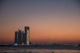 Lasershow in Abu Dhabi